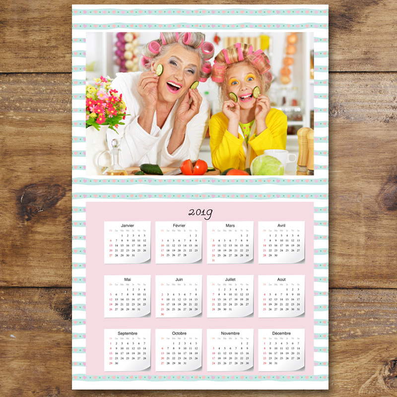 Calendrier Photos Personnalise.Calendrier Photo Personnalise 2019 Green Line