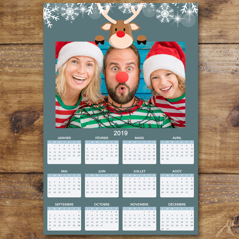 Calendrier Photos Personnalise.Calendrier Photo Personnalise 2019 Special Noel